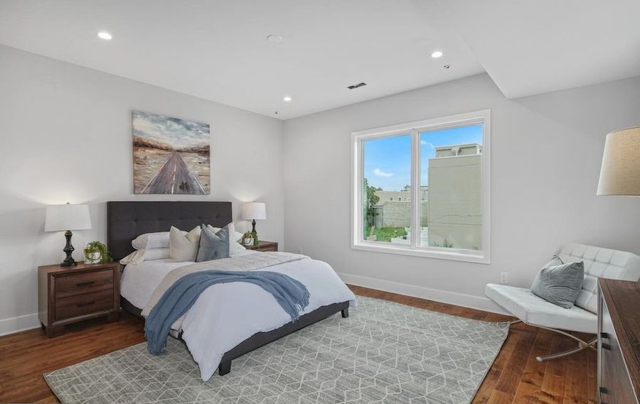 house for sale point breeze new construction townhouse master bedroom