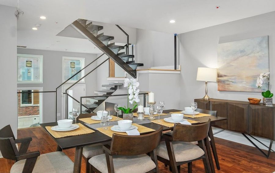 house for sale point breeze new construction townhouse dining room