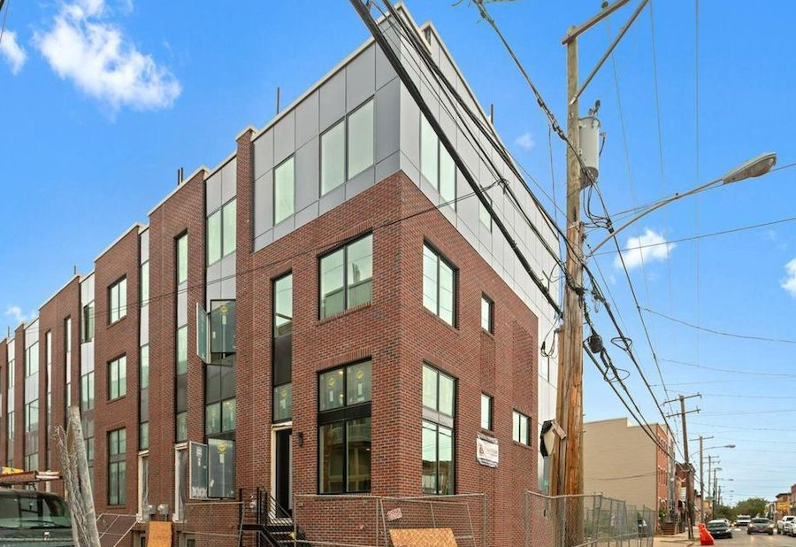 house for sale point breeze new construction townhouse exterior of model unit