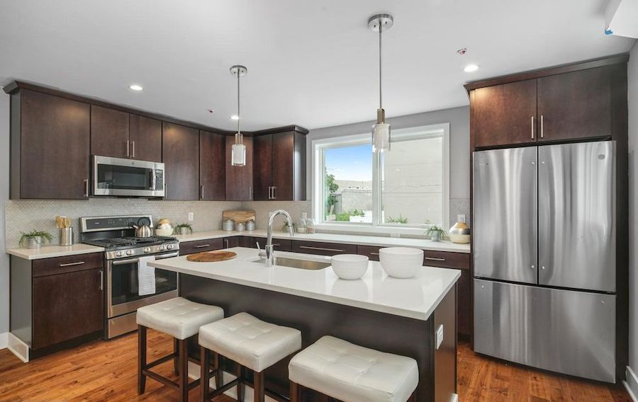 house for sale point breeze new construction townhouse kitchen