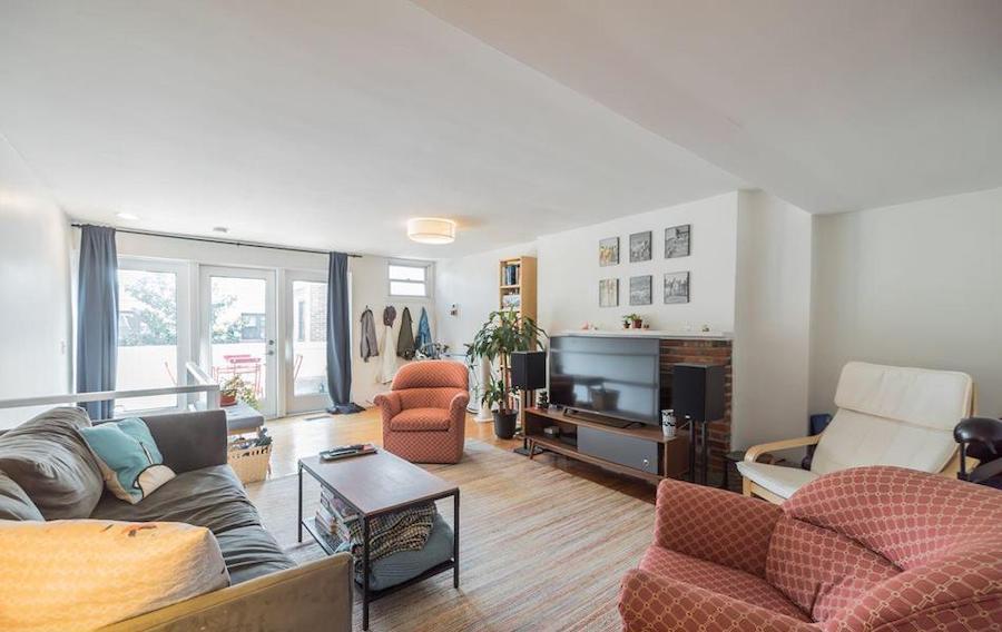 house for sale rittenhouse duplex Unit 2 living room