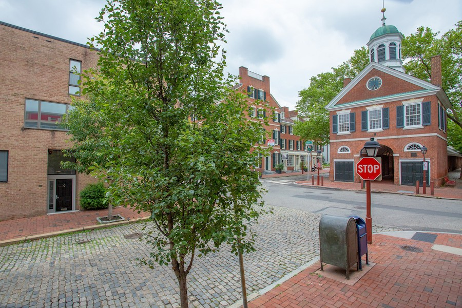 condo for sale society hill penn's landing square townhouse exterior with headhouse square