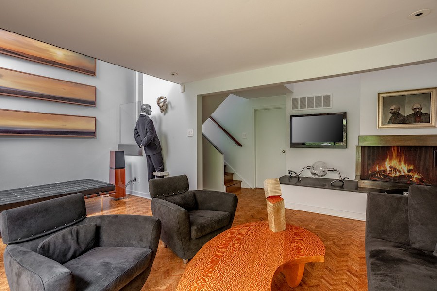 condo for sale society hill penn's landing square townhouse living room