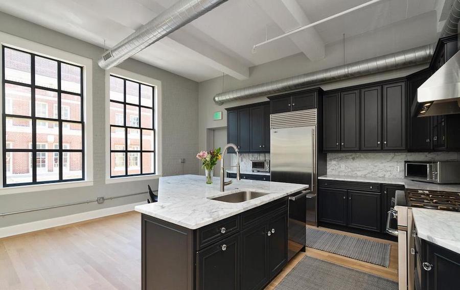 wash west loft condo kitchen