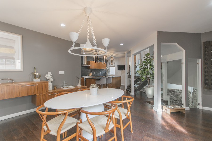northern liberties designer townhouse dining room and kitchen