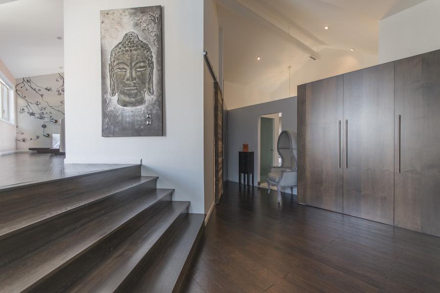 northern liberties designer townhouse master suite entrance