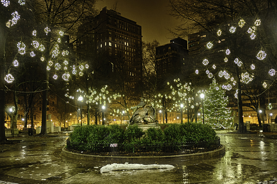 Rittenhouse Square during the holidays