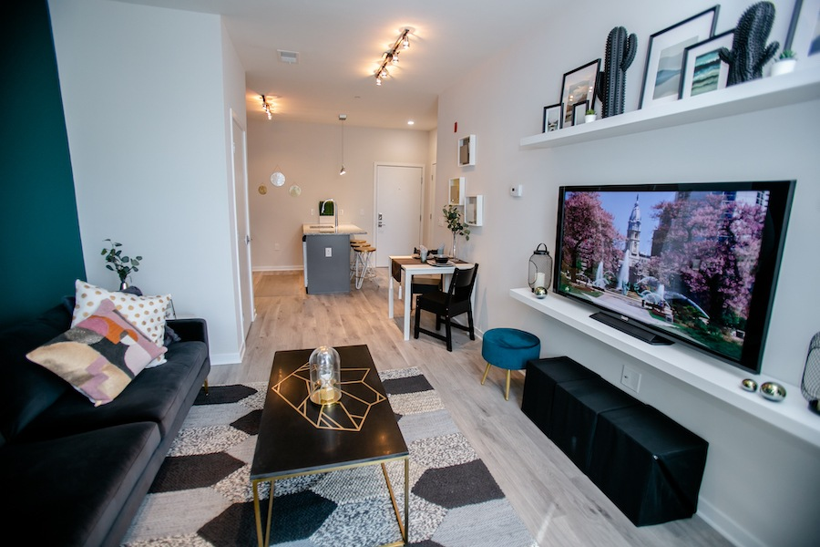 the hub at 31 brewerytown apartment profile model apartment totality