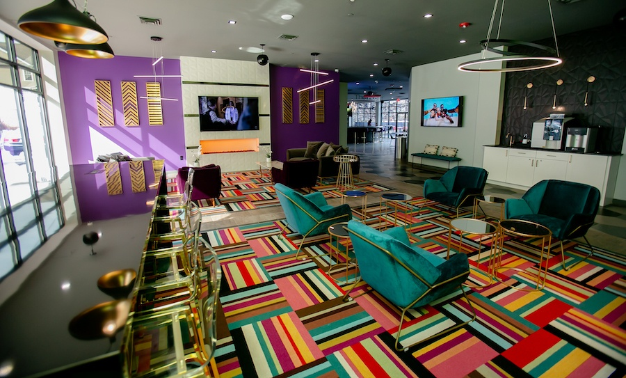 the hub at 31 brewerytown apartment profile tv lounge