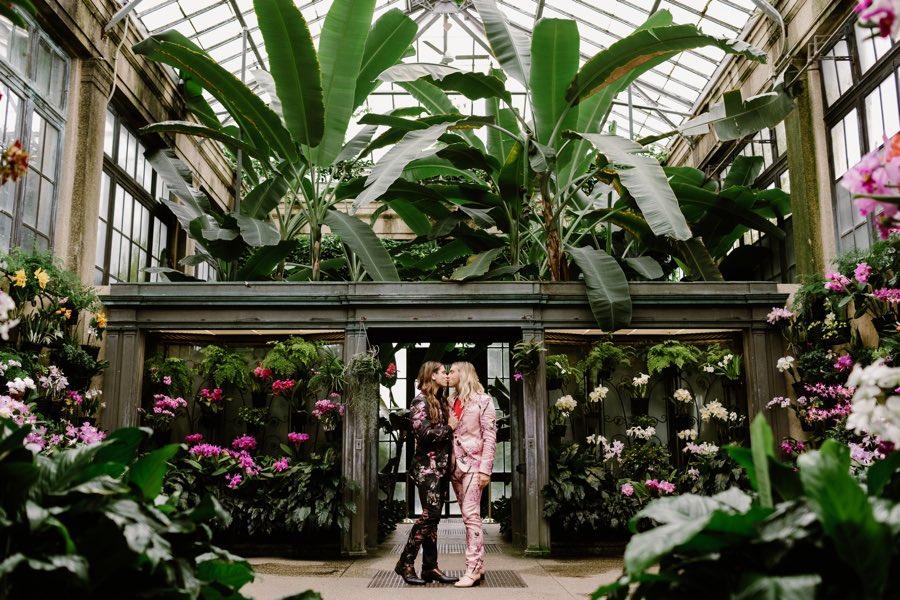 Longwood Gardens engagement shoot
