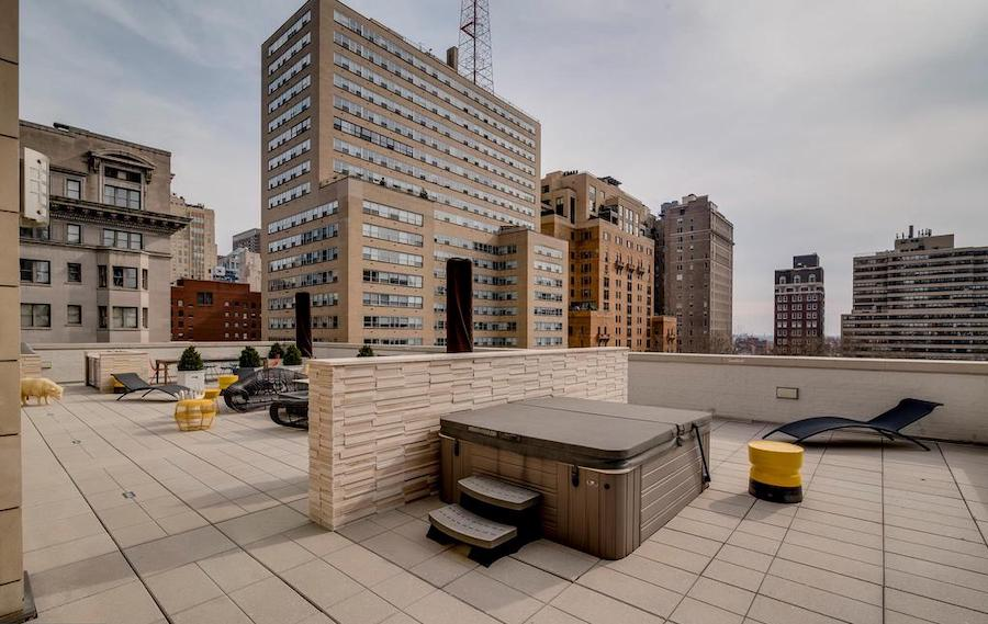 apartment for rent rittenhouse square allison penthouse terrace hot tub