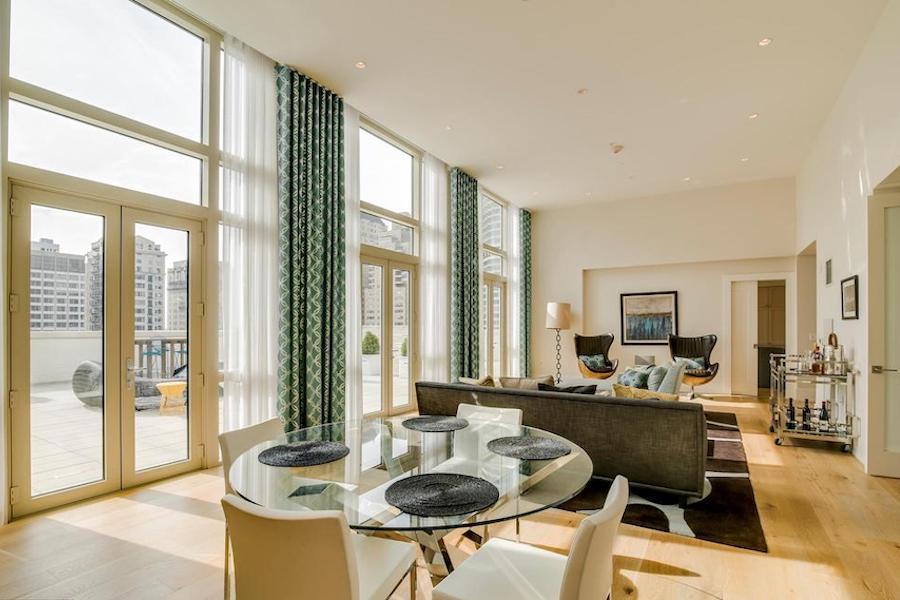 apartment for rent rittenhouse square allison penthouse living room