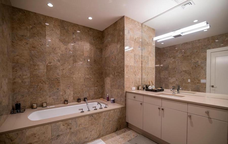 rittenhouse square allison penthouse master bathroom