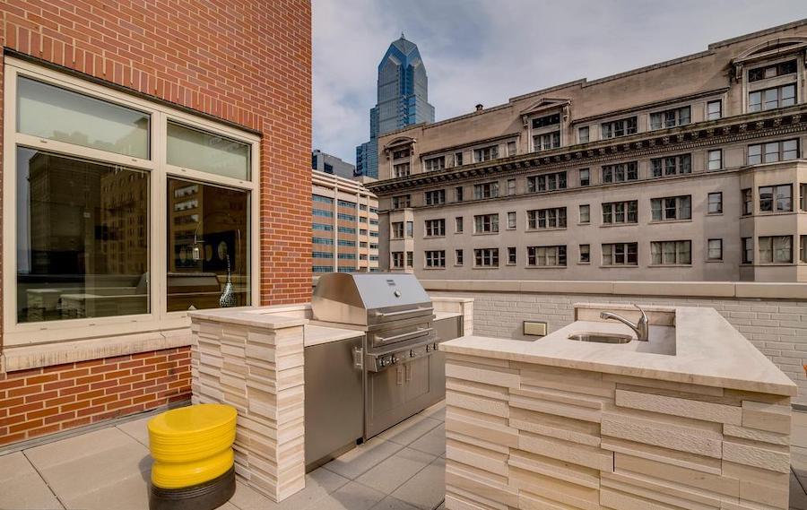 apartment for rent rittenhouse square allison penthouse outdoor kitchen