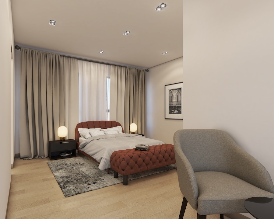 callowhill court master bedroom rendering