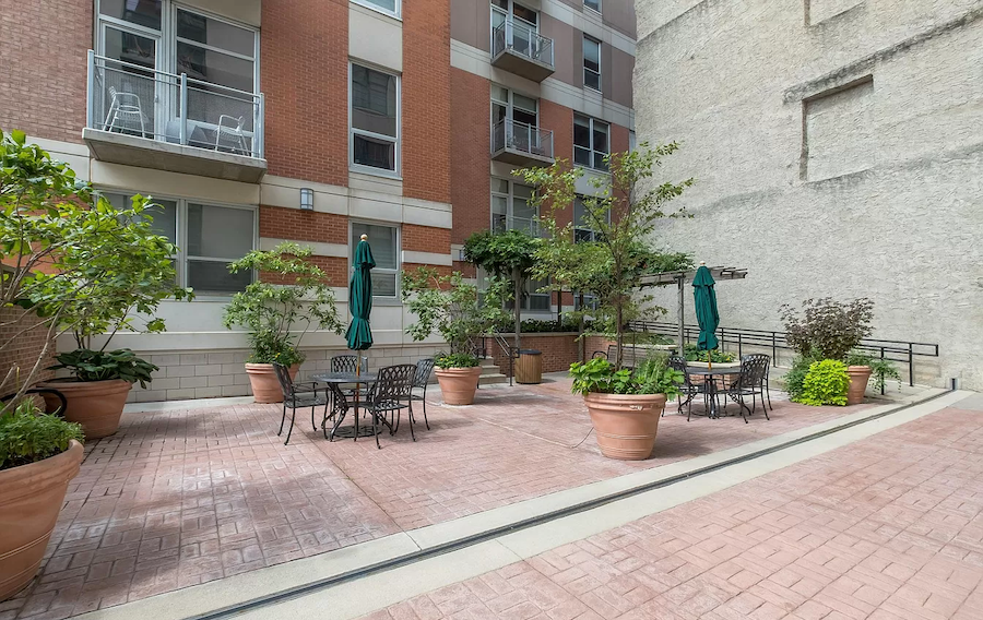 condo for sale old city national bi-level townhouse street-level courtyard