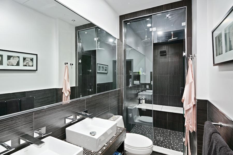 wash west walnut st tri-level master bathroom
