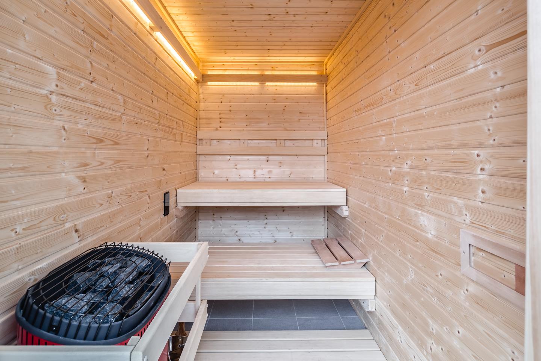 wash west walnut st tri-level sauna