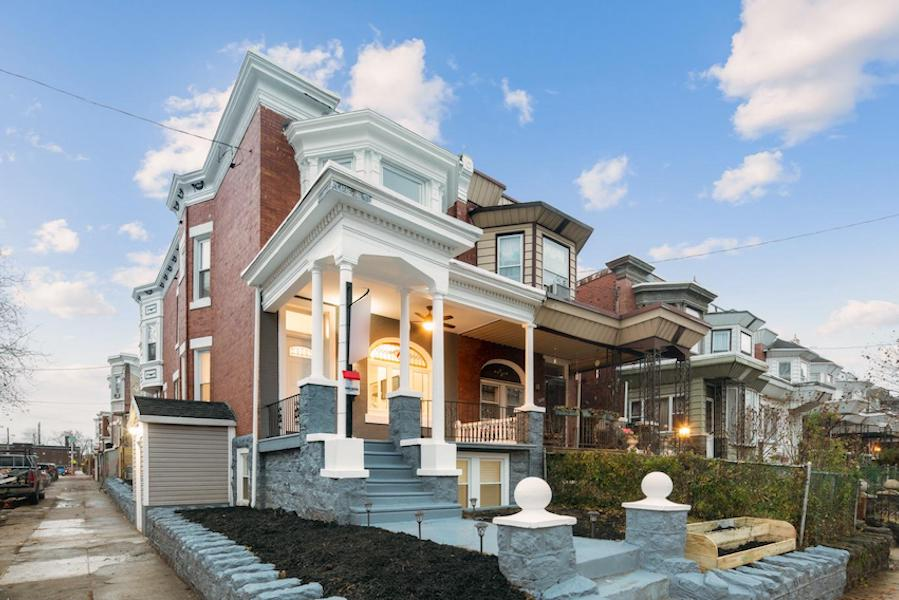house for sale cobbs creek renovated corner rowhouse exterior