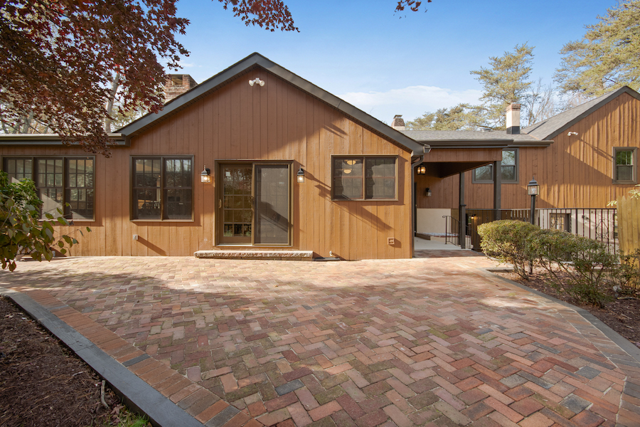 house for sale cherry hill grube residence front patio and entrance