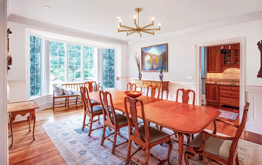 house for sale gladwyne tudor revival revival dining room