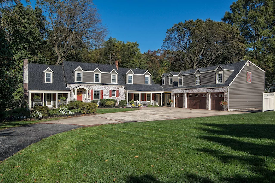 house for sale moorestown expanded cape exterior front