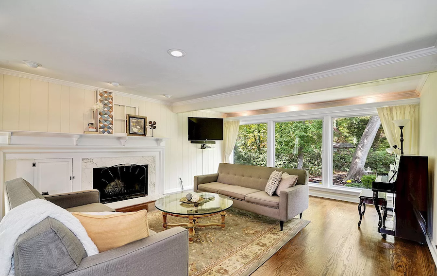 house for sale moorestown expanded cape living room