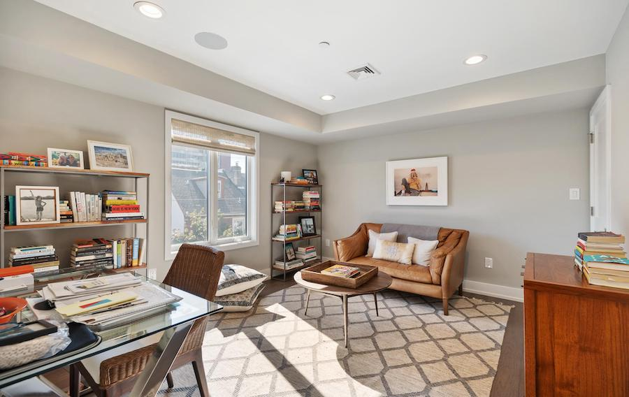 house for sale northern liberties modern townhouse bedroom