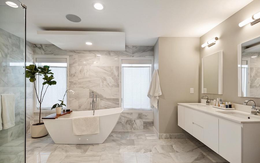 northern liberties modern townhouse master bathroom