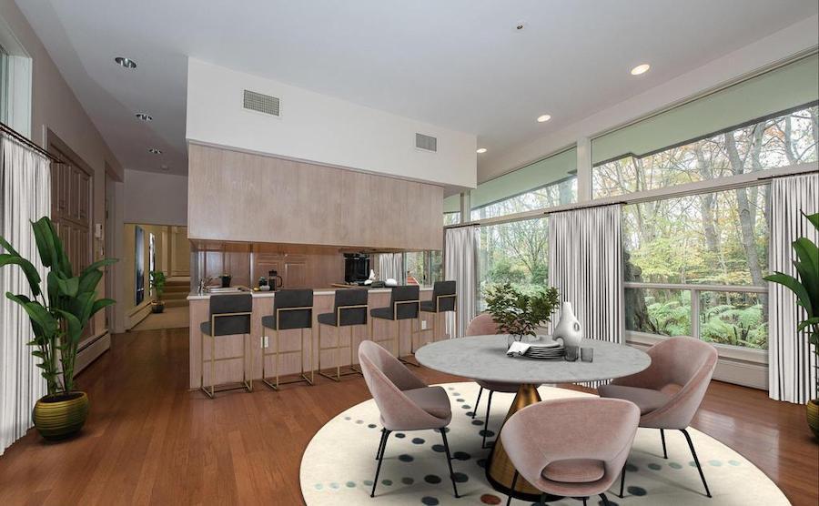 penn valley midcentury modern breakfast room