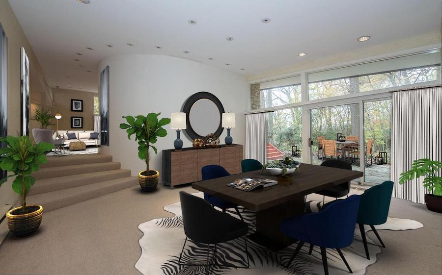 house for sale penn valley midcentury modern dining room