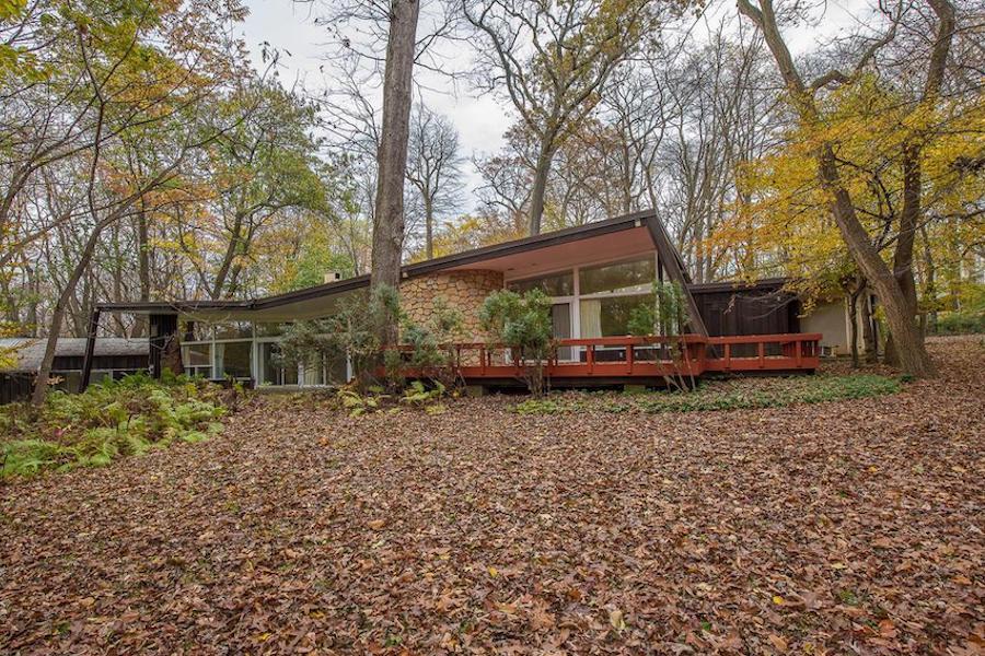 house for sale penn valley midcentury modern exterior rear