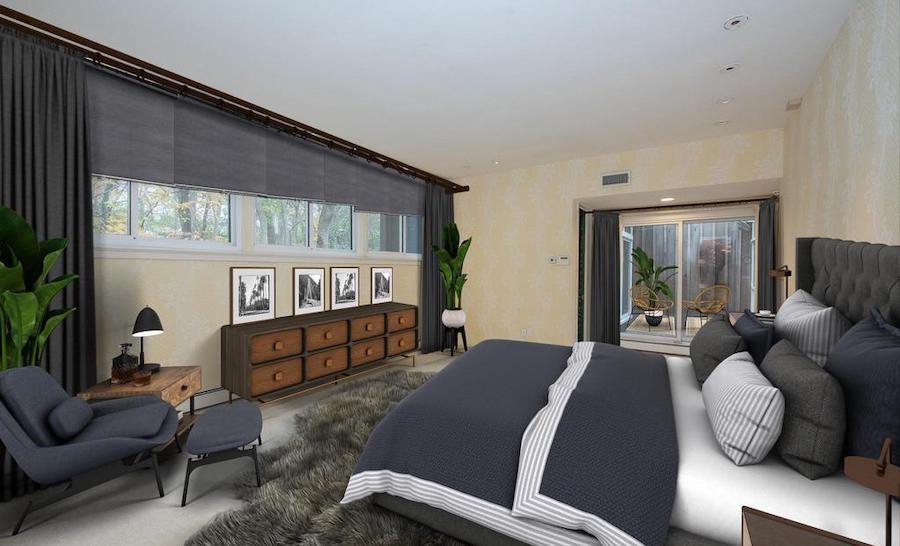 penn valley midcentury modern master bedroom