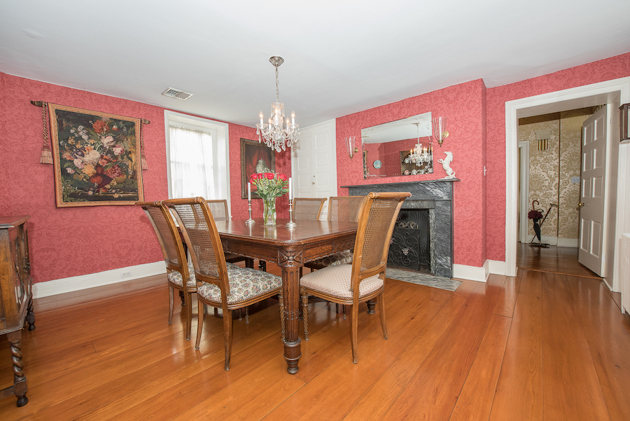house for sale plymouth meeting cook-livezey house dining room