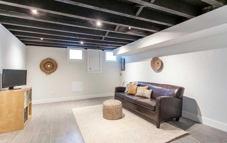 point breeze modern workingman's row house basement
