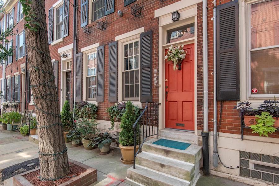 house for sale rittenhouse addison street townhouse front entrance