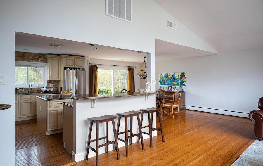 house for sale wynnewood split-level contemporary dining room and kitchen