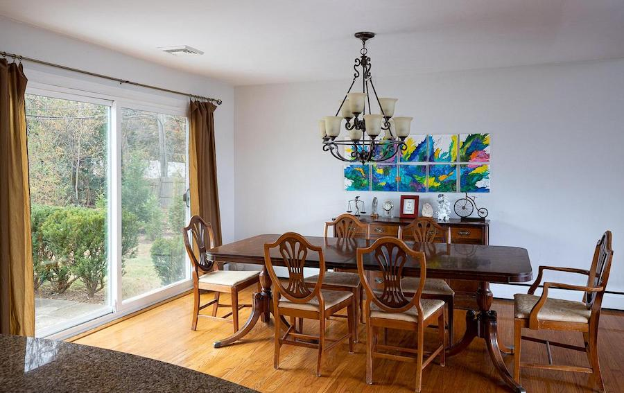 hwynnewood split-level contemporary dining room