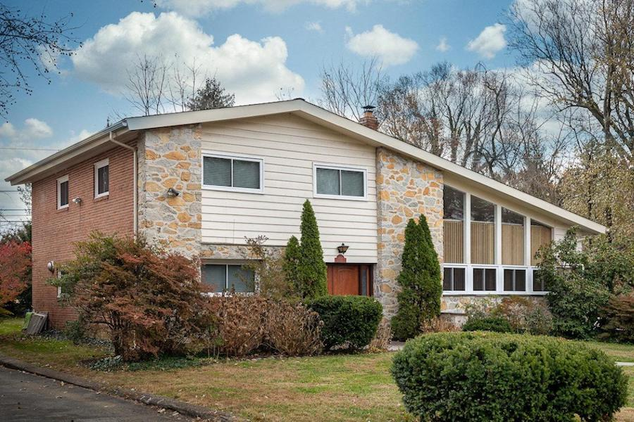 house for sale wynnewood split-level contemporary exterior front