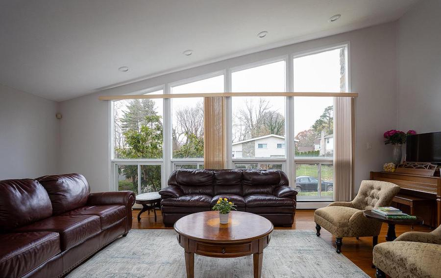 house for sale wynnewood split-level contemporary living room