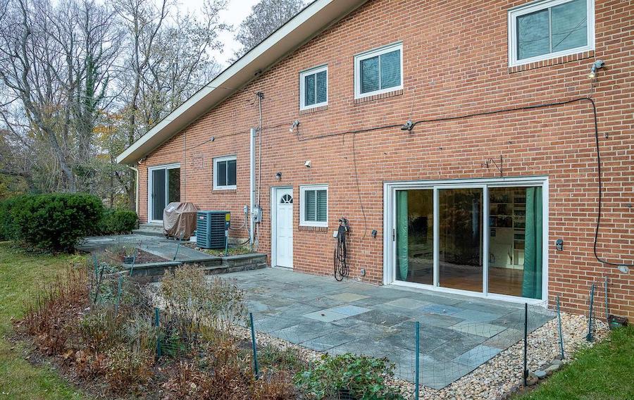 wynnewood split-level contemporary rear patio