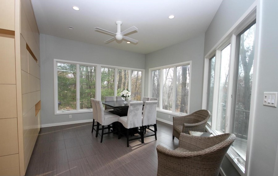 newtown square contemporary casual dining room