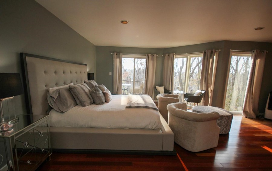 newtown square contemporary master bedroom
