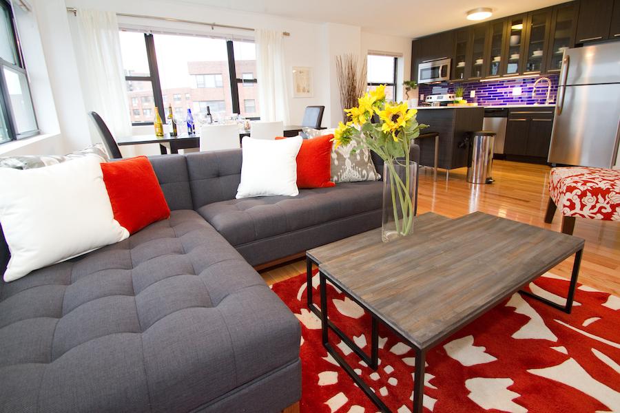 rittenhouse hill model 2br living room