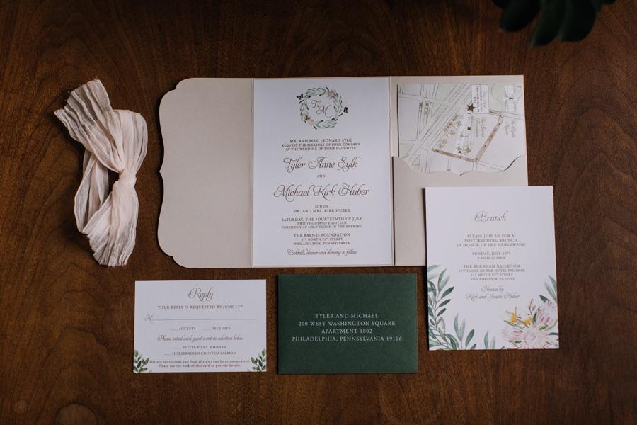 Papertree Studio wedding invitations