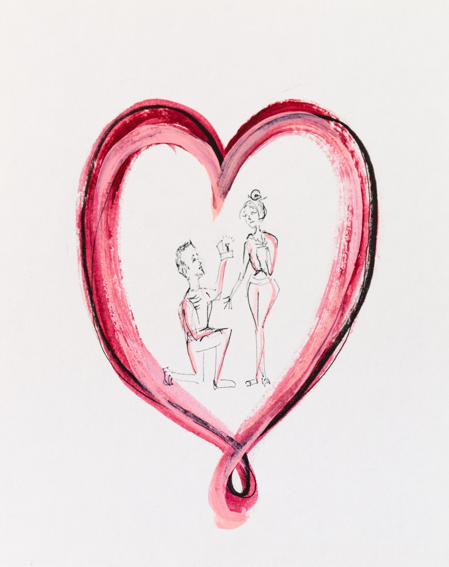marriage proposal painting