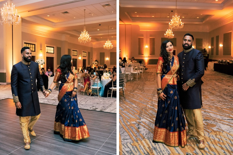 blue indian wedding attire