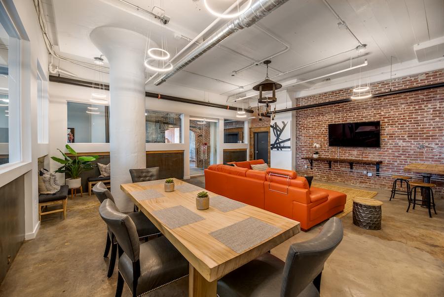 brush factory lofts apartment profile residents' lounge