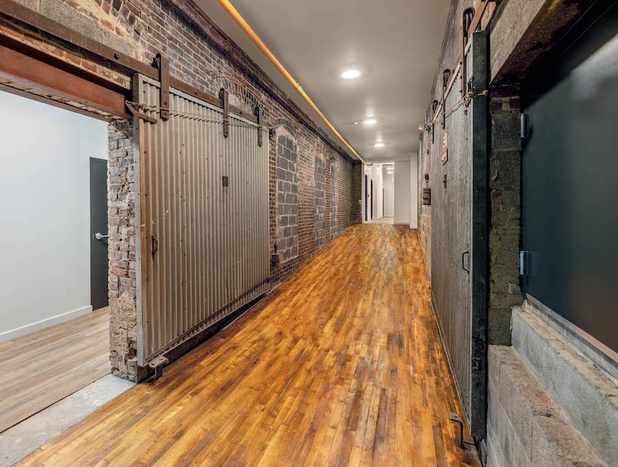 brush factory lofts apartment profile interior hallway in building 1