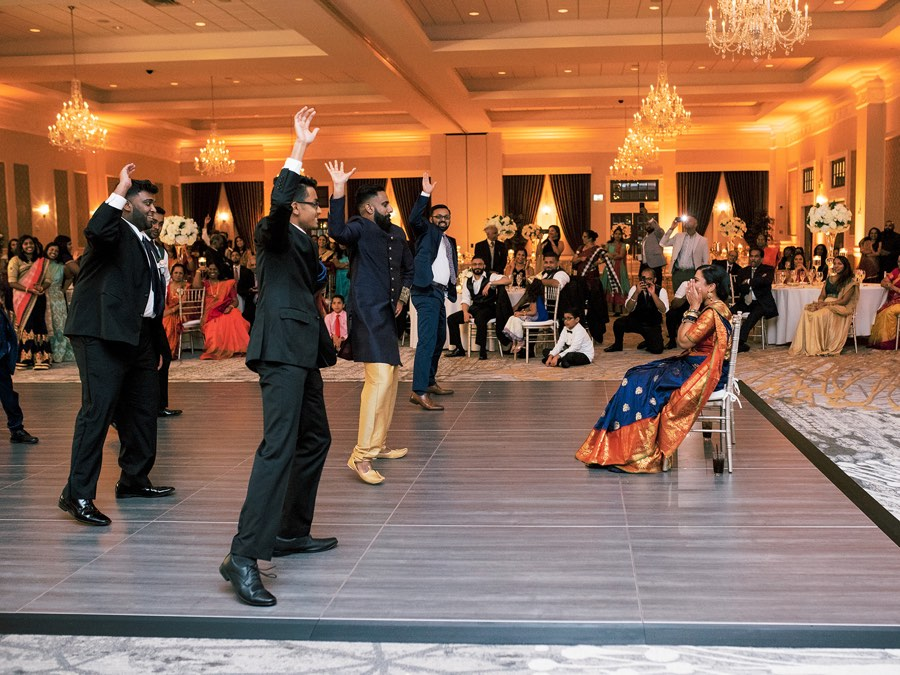 choreographed Indian wedding dance